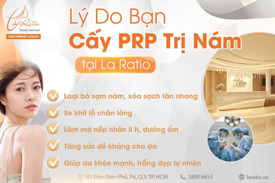 Lựa chọn sử dụng dịch vụ cấy PRP trị nám tại Viện thẩm mỹ La Ratio là lựa chọn sáng suốt của bạn