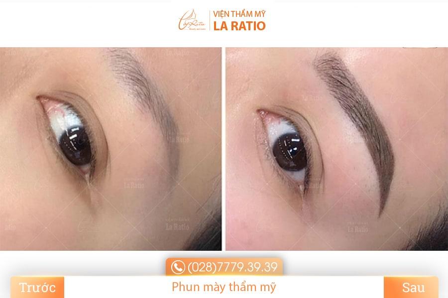 Lông mày đẹp tự nhiên, cuốn hút và tôn lên những đường nét trên khuôn mặt nhờ công nghệ phun xăm chân mày tại La Ratio