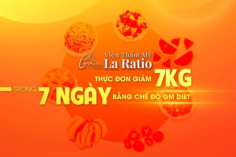 Thực đơn giảm 7kg trong 7 ngày bằng phương pháp gm diet