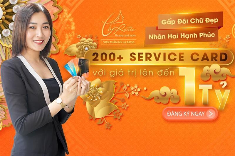Phát hành 200+ SERVICE CARD trị giá đến 1 TỶ