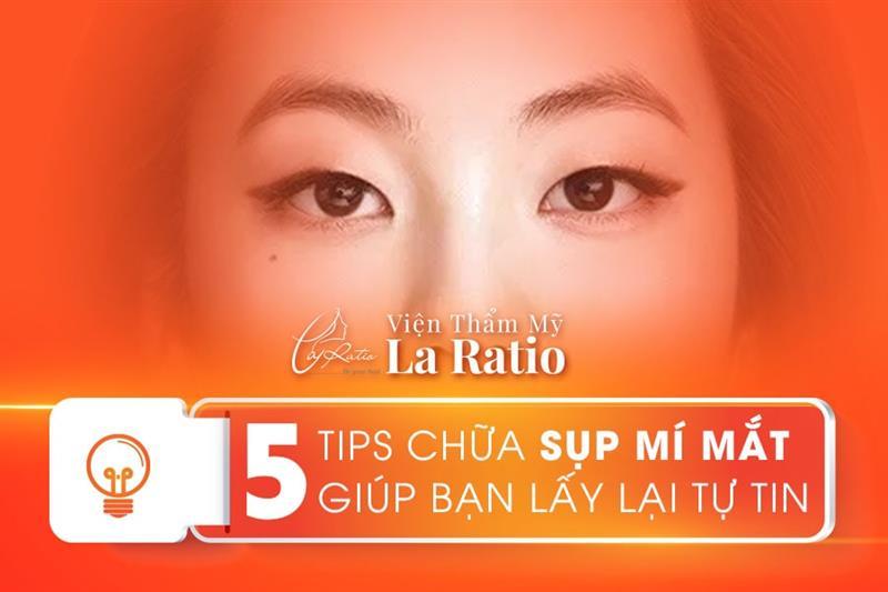 5 tips chữa sụp mí mắt giúp bạn lấy lại tự tin