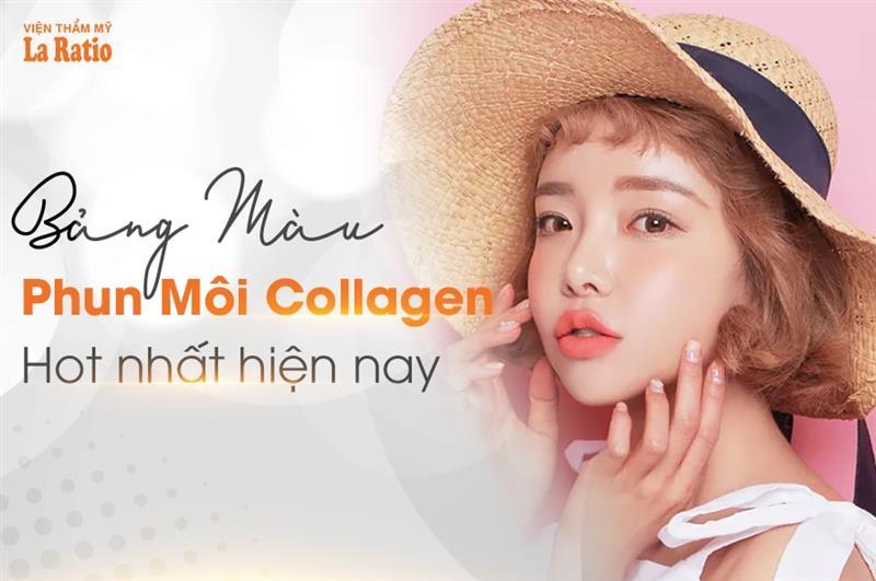Bảng màu phun môi Collagen hot nhất hiện nay
